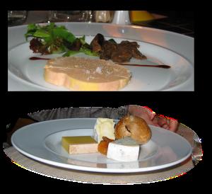 foie gras, cheese, Bateaux Parisiens
