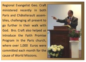Regional Evangelist George Craft, UPCI
