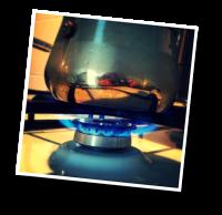 gaz naturel, cafetière