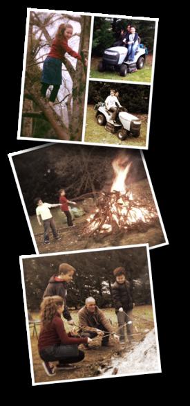 Campfire, Feu de camp, Missionary Paul Brochu, yard work