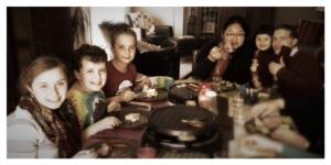 Raclette, repas en famille, Famille de Dieu