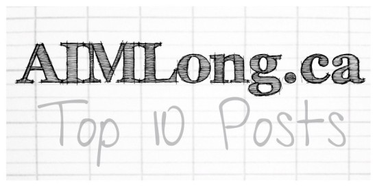 Top 10 Posts, AIMLong.ca, AIMLong, Mike Long, Châtellerault France