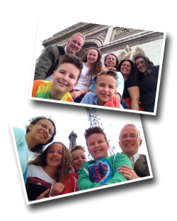 Paris, selfie stick, arc of triumph, arc de triomphe, Eiffel Tower, Tour Eiffel