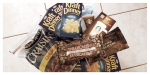 Care Package, Kraft Dinner, Ocean Spray Craisins, President's Choice Chocolate
