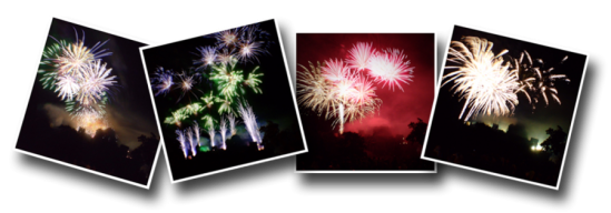 Feux d'artifice, fireworks, France, Angles-sur-l'Anglin, chateau baronnial