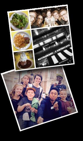 Restaurant l'Entrecôte, Bordeaux, friendship
