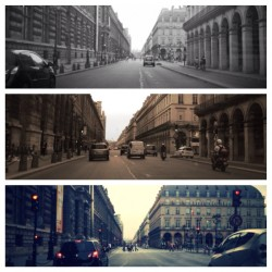 Rue de Rivoli, Driving in Paris, vacation, empty streets