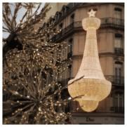 Dior, Maison Dior, Christian Dior, Paris, Chandelier, Christmas