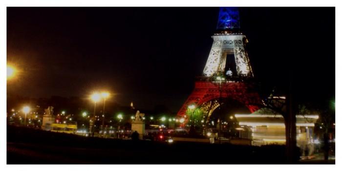Eiffel Tower, Tour Eiffel, trees, Paris, Red White & Blue, Carousel, carrousel