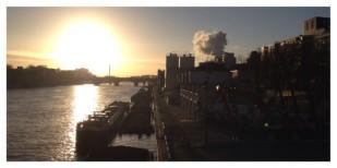 Ivry-sur-Seine, Sunrise, Morning, industry, Seine River, Industrie, La Seine