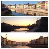 Pisa, Arno River, Sunsent, Tuscany, Italy