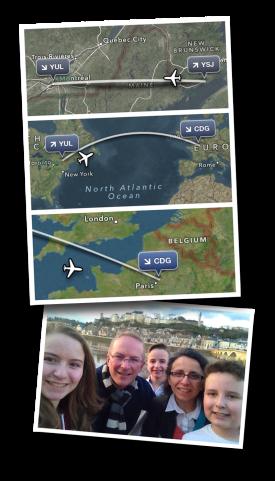 Montreal, Paris, AC870, Air Canada, Chinon, Reunited