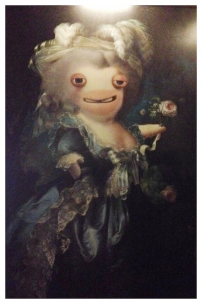 Raving Rabbid as Marie Antoinette