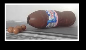 Chocolate, Evian bottle, bottle, Chocolatier, dessert