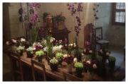 Château de Chenonceau, Chenonceau, France, Castle, Loire Valley, Flower arranging, Floral Design, sweet pea, pois de senteur