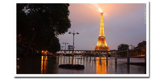 flooding in paris, crue, zoave, eiffel tower