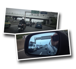 heavy traffic, route N104, Evry, Traffic jam