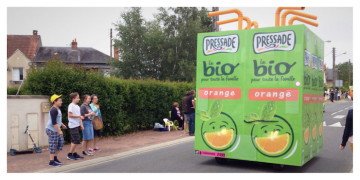 Tour de France, #TDF2016, étape 4, stage 4, Châtellerault, Pressade, orange juice, jus d'orange