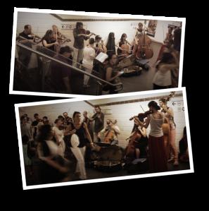 metro de paris, string section, violin, châtelet, musique dans le métro