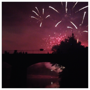 Angles sur l'Anglin, feux d'artifice, fireworks