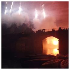 Angles sur l'Anglin, feux d'artifice, fireworks