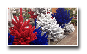Christmas tree, France, bleu blanc rouge, tricolor