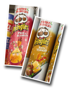 Pringles, potato chips, Xmas Turkey, Pigs in Blankets, snack food