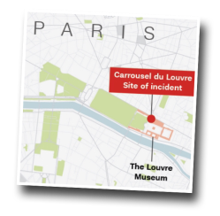 Starbucks, Carrousel du Louvre, Paris, machete attack, terrorist