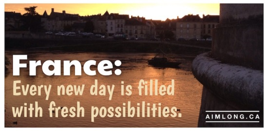 images of France, Pictures of France, Bible Verse, AIMLong.ca, AIMLong, pont henri IV, sunrise, la vienne