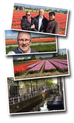 Noordevijk, Netherland, Holland, Tulips, tulip fields, Missionary, Paul Brochu, AIMer, Mike Long, Delft
