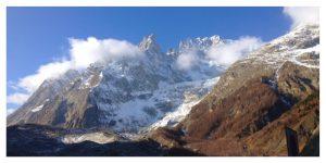 Courmayeur, Italian Alps, Monte Bianco, glacier