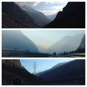 Driving through Italy's Aosta Valley, val d'aosta