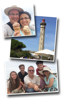 Phare des baleines, ice cream, family