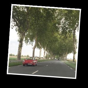 chambord, local road, national road