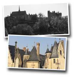 chateau, montreuil-bellay, anjou, castle, french