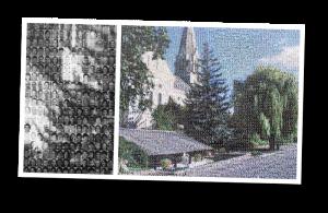 les trois moutiers, France, people, mosaic