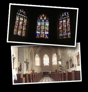 Brissac-Quincé, Brissac Loire Aubance, Maine-et-Loire, Departement 49, Église Saint-Vincent, vitraux