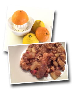 sarrasin pot, orange, lemon