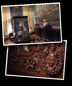 chateau de brissac, brissac, hunting chamber, chambre de chasse