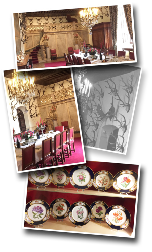 chateau de brissac, brissac, dining room, salle à manger