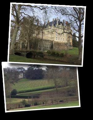 chateau de brissac, brissac, parc