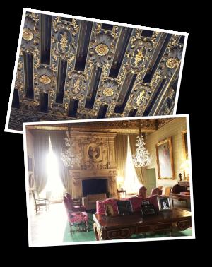 chateau de brissac, brissac, plafond à la française